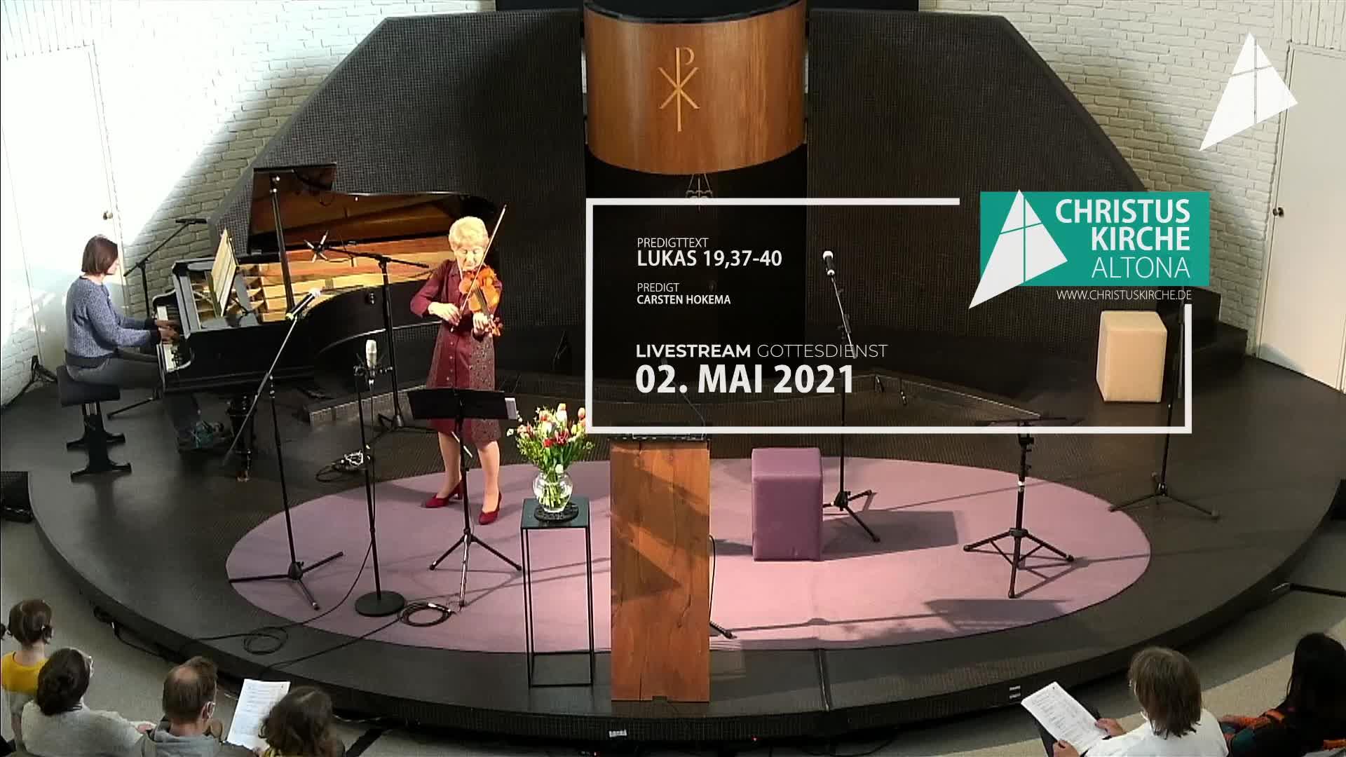 Gottesdienst - am 02. Mai - Livestream aus der Christuskirche Altona