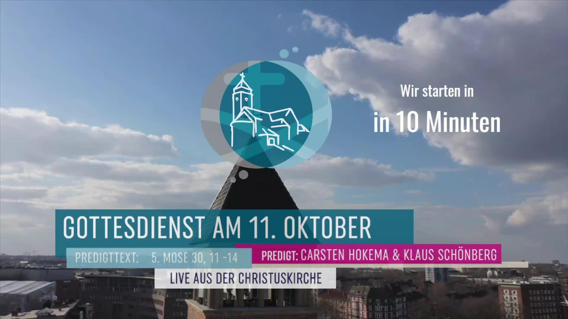 Gottesdienst am 11. Oktober - Livestream aus der Christuskirche Altona