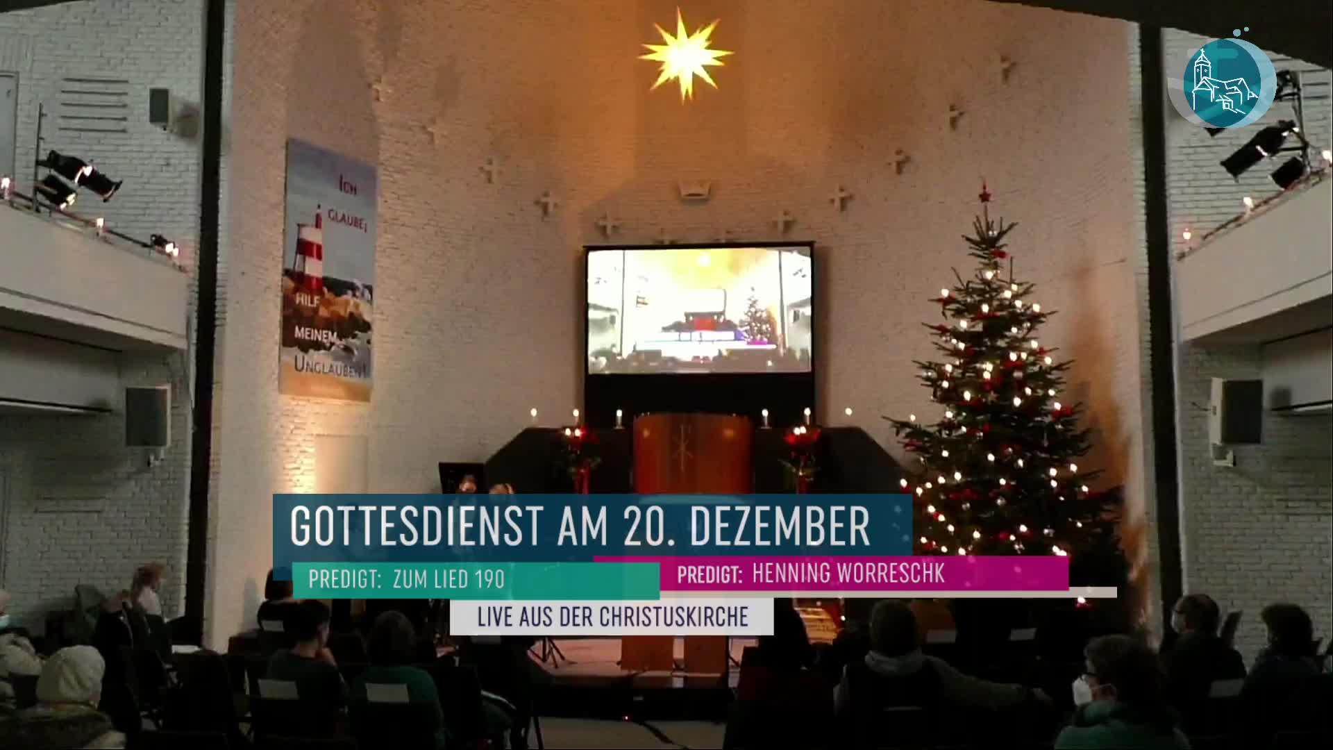 Gottesdienst am 20. Dezember - Livestream aus der Christuskirche Altona am 4. Advent