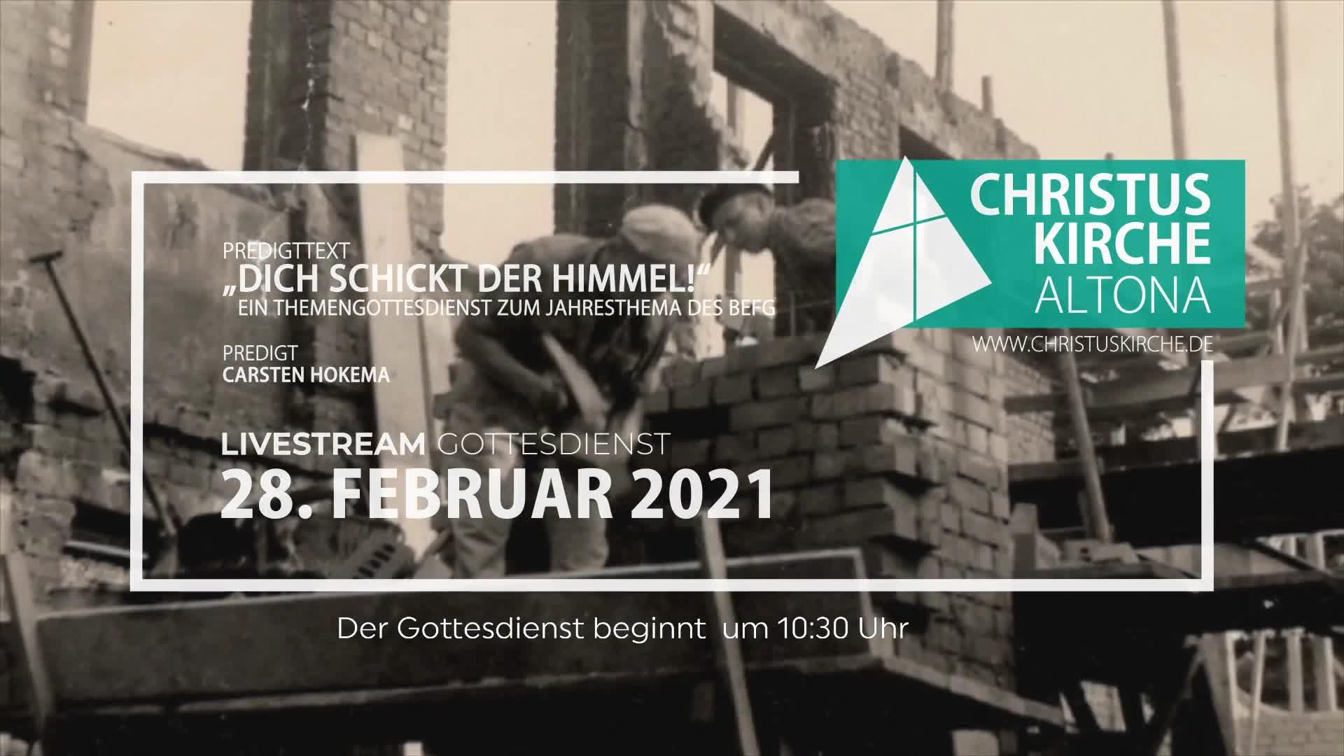 Gottesdienst am 28. Februar - Livestream aus der Christuskirche Altona on 28-Feb-21-09:13:21