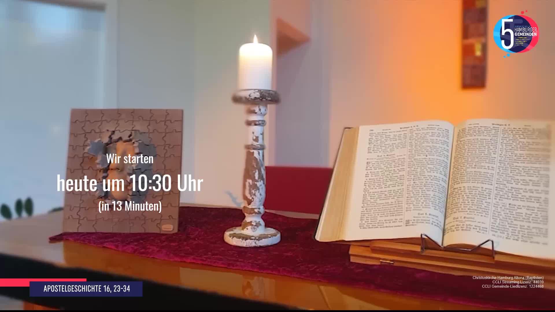 10. Mai - Aufzeichnung Gottesdienst 5 Hamburger Gemeinden  (EFG)