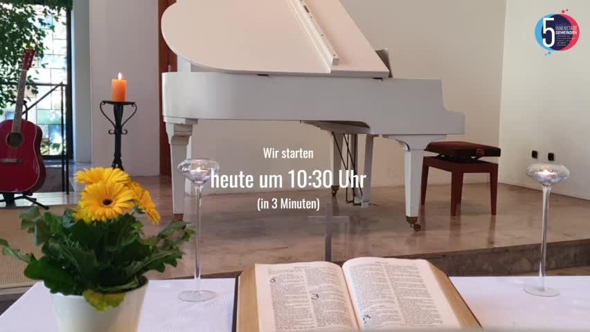 Gottesdienst (livestream) der Innenstadtgemeinden (EFG) 19. April