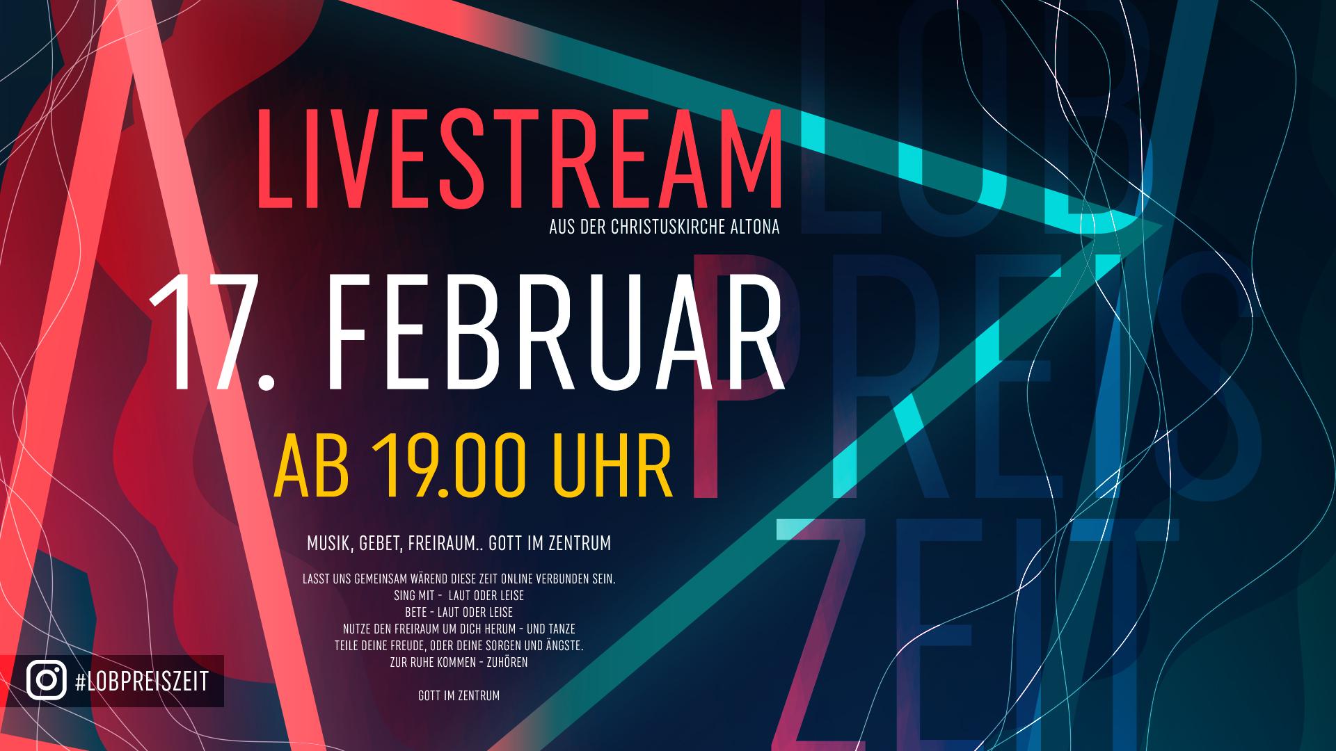 Lobpreiszeit #23 aus der Christuskirche Hamburg Altona (Livestream)