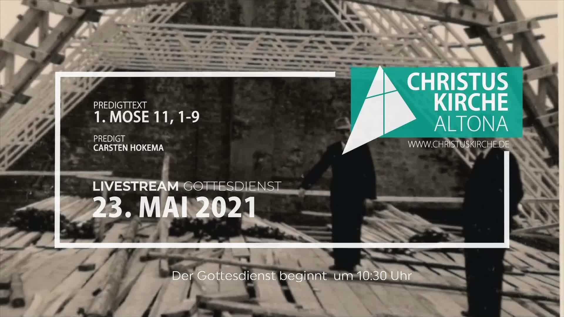 Gottesdienst - am 23. Mai - Livestream aus der Christuskirche Altona
