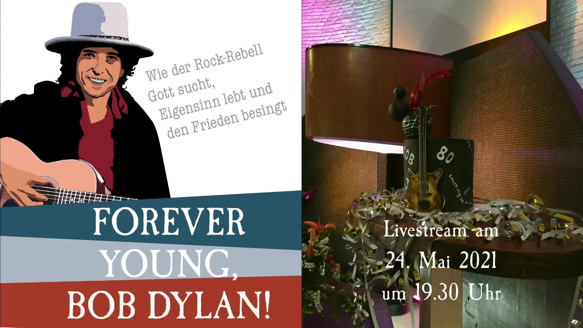 Schönen guten Abend! Bob Dylan, forever young!