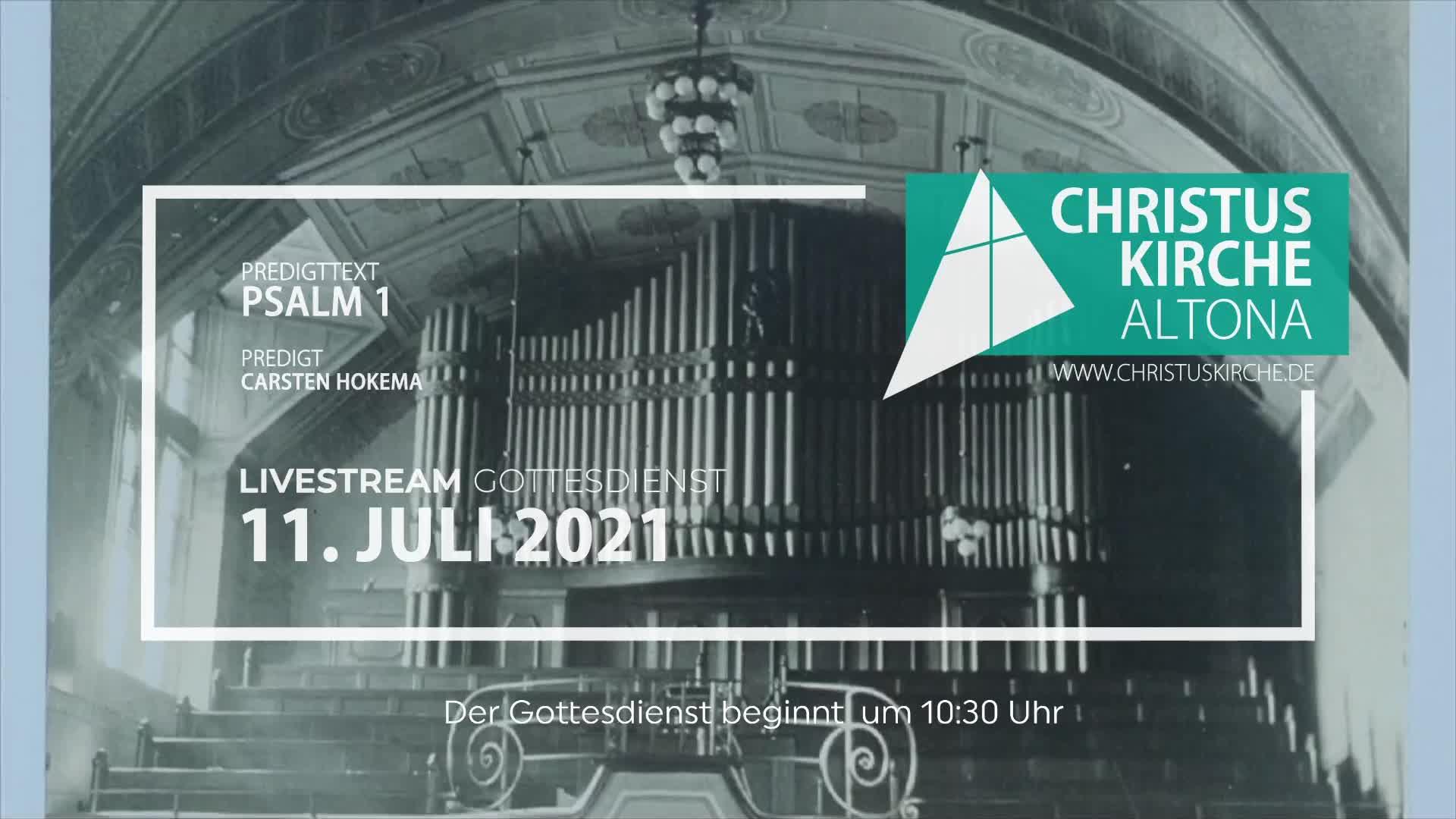 Gottesdienst - am 11. Juli - Livestream aus der Christuskirche Altona
