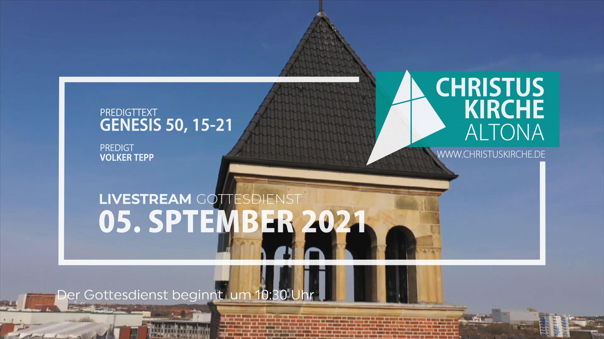 Gottesdienst - am 5. September - Livestream aus der Christuskirche Altona