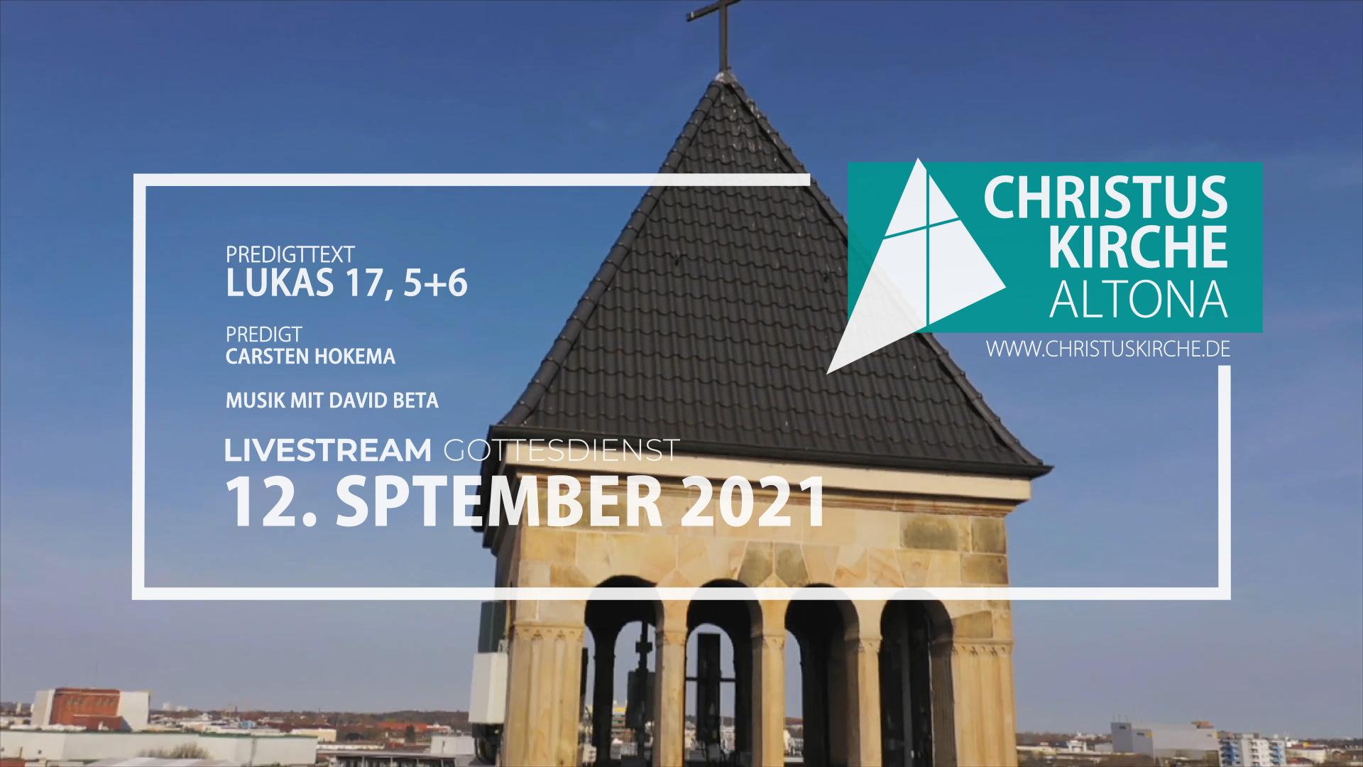 Gottesdienst - am 12. September - Livestream aus der Christuskirche Altona